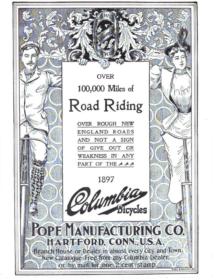 Columbia Bicycles Advertisement, 1897