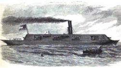 "The War Steamer ""Merrimac"" Raised and Converted Into a Battering Ram"
