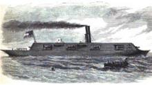 """The War Steamer """"Merrimac"""" Raised and Converted Into a Battering Ram"""